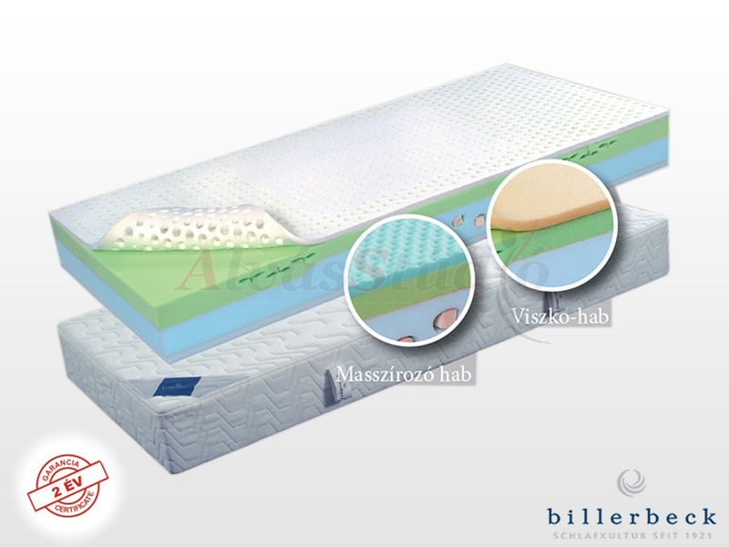 Billerbeck Davos hideghab matrac 180x220 cm masszírozó hab párnázó réteggel