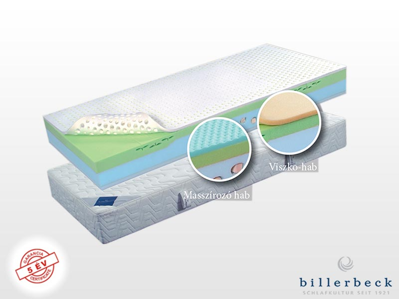 Billerbeck Davos hideghab matrac 120x220 cm viszkoelasztikus hab párnázó réteggel