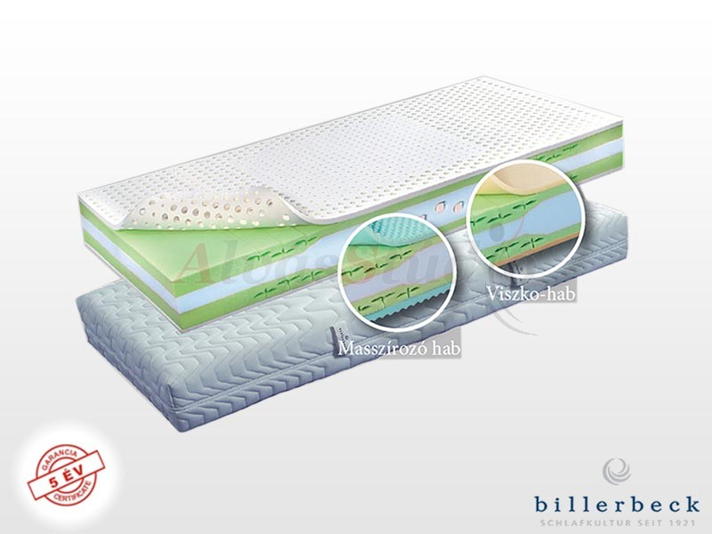 Billerbeck Basel hideghab matrac 120x220 cm masszírozó hab párnázó réteggel