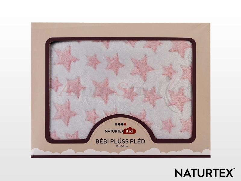 Naturtex Baby Design Pink Star bébi plüss pléd rózsaszín 100x75 cm