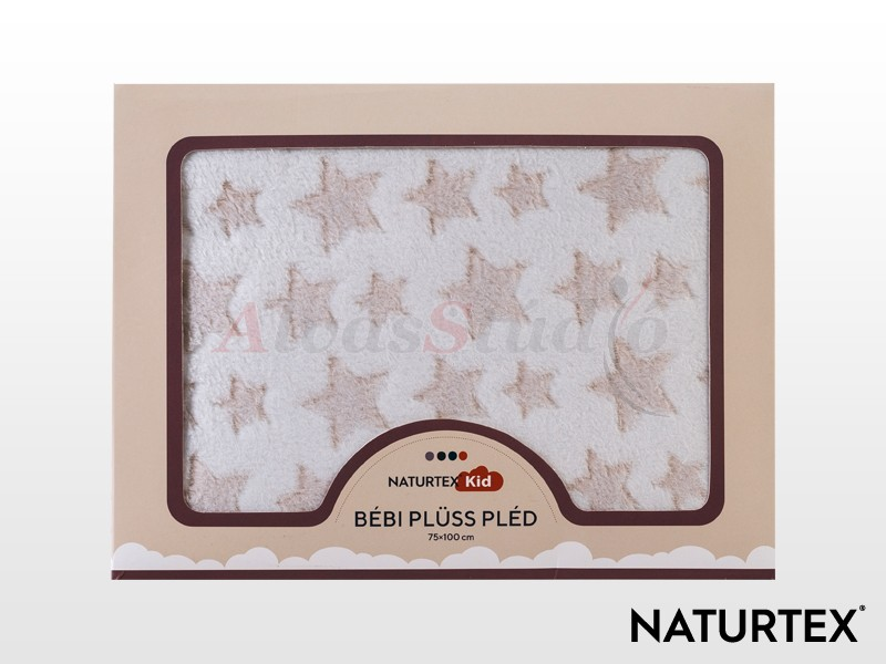 Naturtex Baby Design Beige Star bébi plüss pléd bézs 100x75 cm