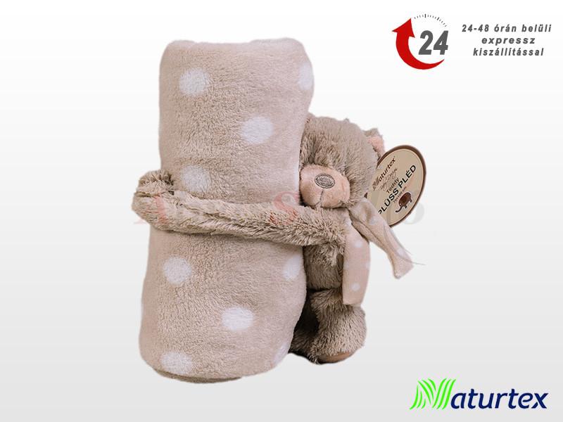 Naturtex Baby Design ölelős Teddy plüss pléddel 100x75 cm