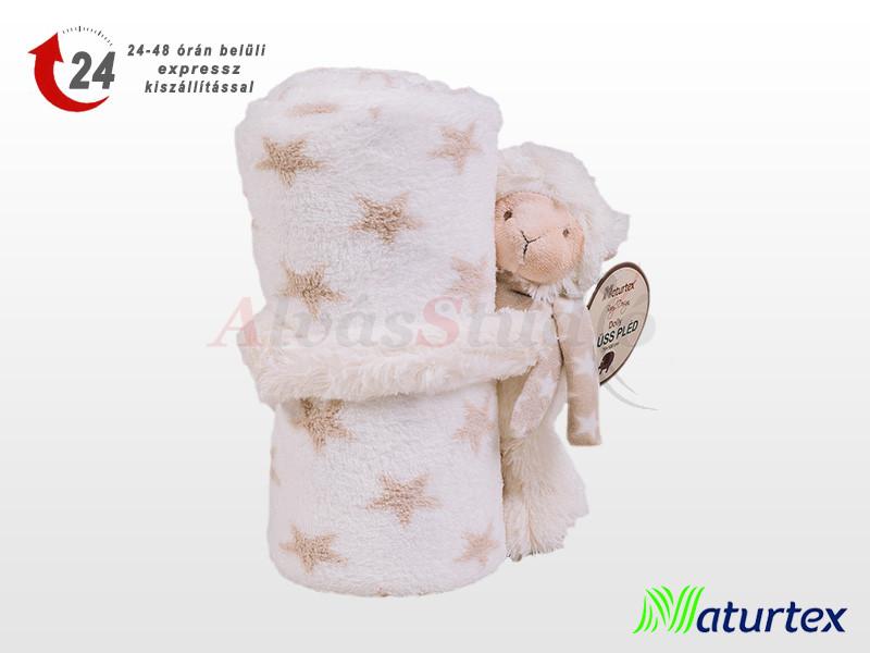 Naturtex Baby Design ölelős Dolly plüss pléddel 100x75 cm
