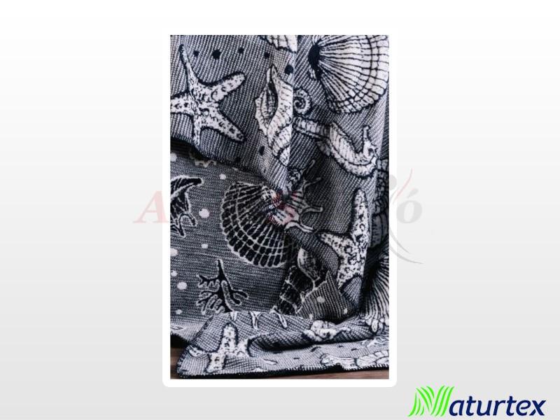 Naturtex Pamut-akril Ocean mintás pléd 200x220 cm