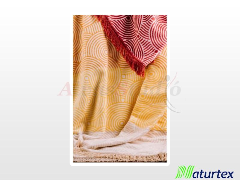 Naturtex Pamut-akril Sunshine mintás pléd 150x200 cm