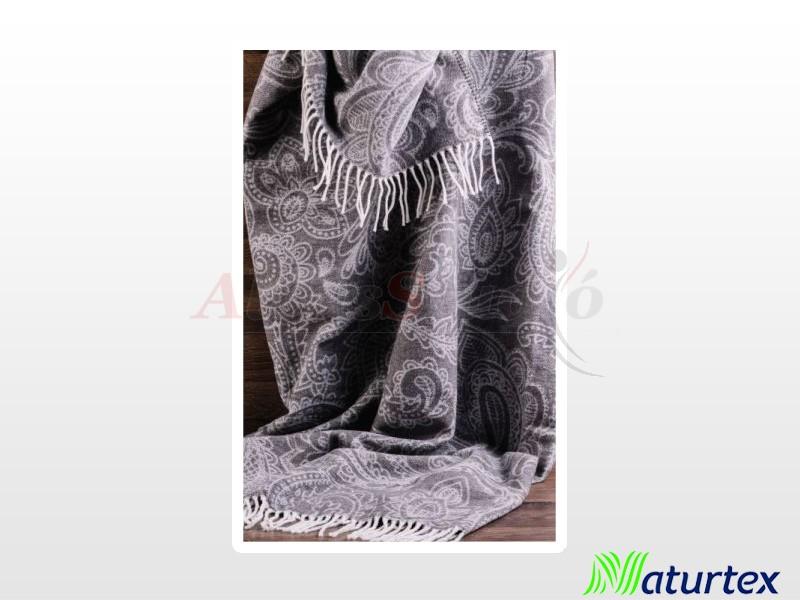 Naturtex Pamut-akril Amo dark mintás pléd 150x200 cm