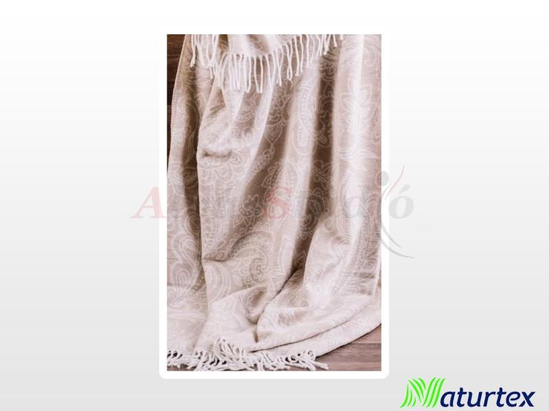 Naturtex Pamut-akril Amo light mintás pléd 150x200 cm