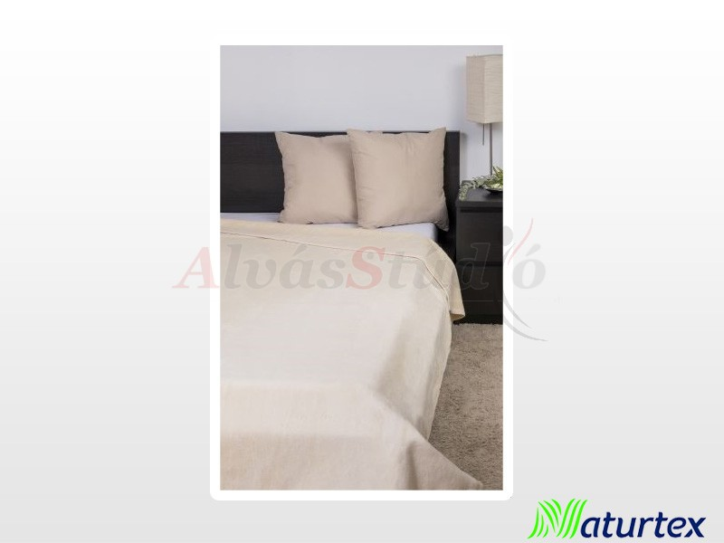 Naturtex Pamut-akril drapp pléd 220x240 cm