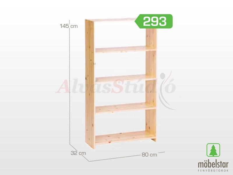 Möbelstar 293 - Polcos elem 145x32x80 cm
