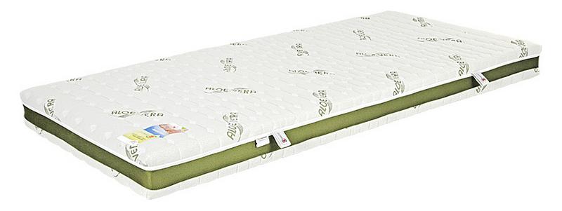 Lineanatura Fitness Natural latex-kókusz bio matrac 200x200 cm ALOE-3D-4Z huzattal