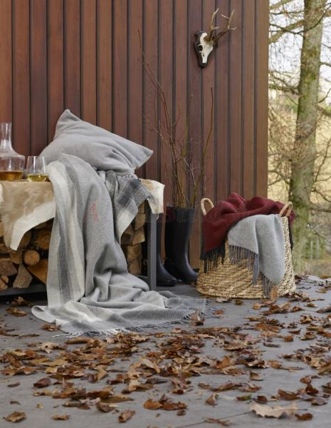 Biederlack Cosy & Luxury bordó-antrcit pléd 130x170 cm