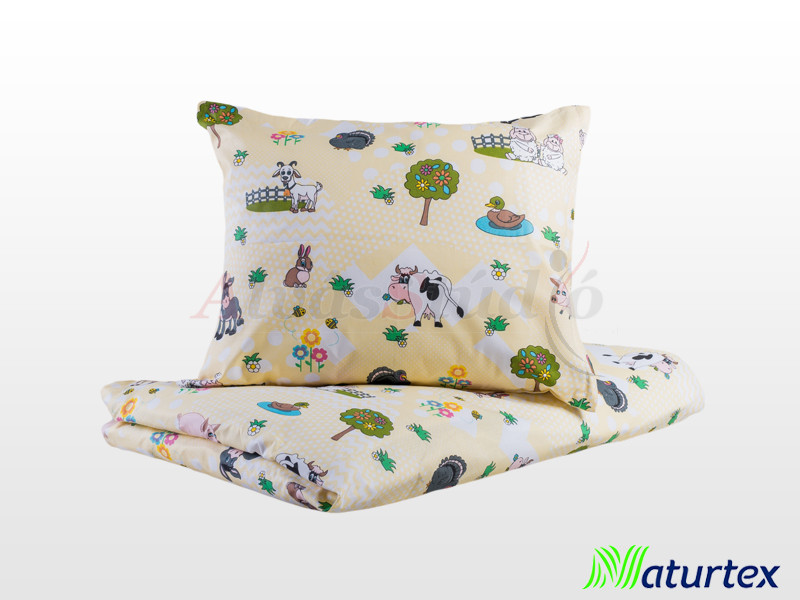 Naturtex 2 részes Farm gyermek ágyneműhuzat 90x130 cm - 40x50 cm