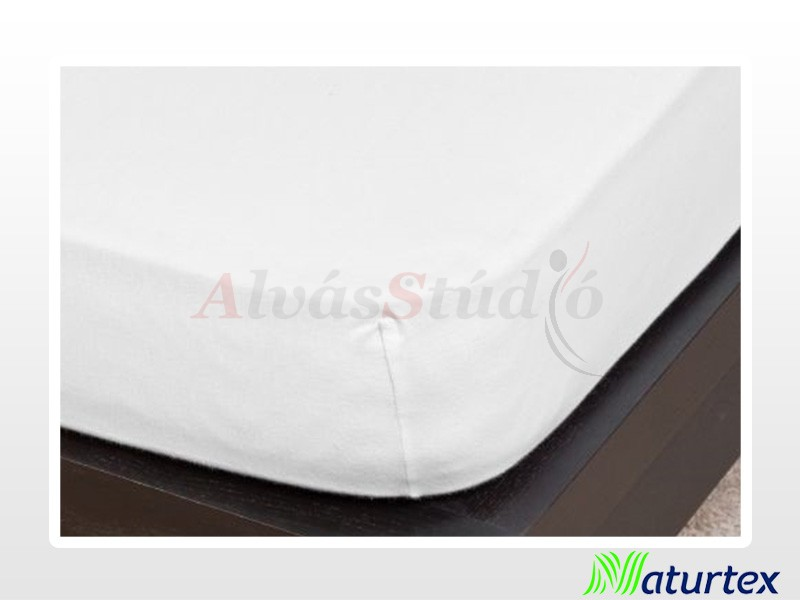 Naturtex Jersey gumis lepedő Fehér 90-100x200 cm