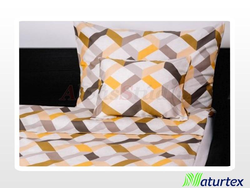 Naturtex 3 részes pamut-szatén ágynemű Magic Yellow 140x200 cm - 70x90 cm - 40x50 cm