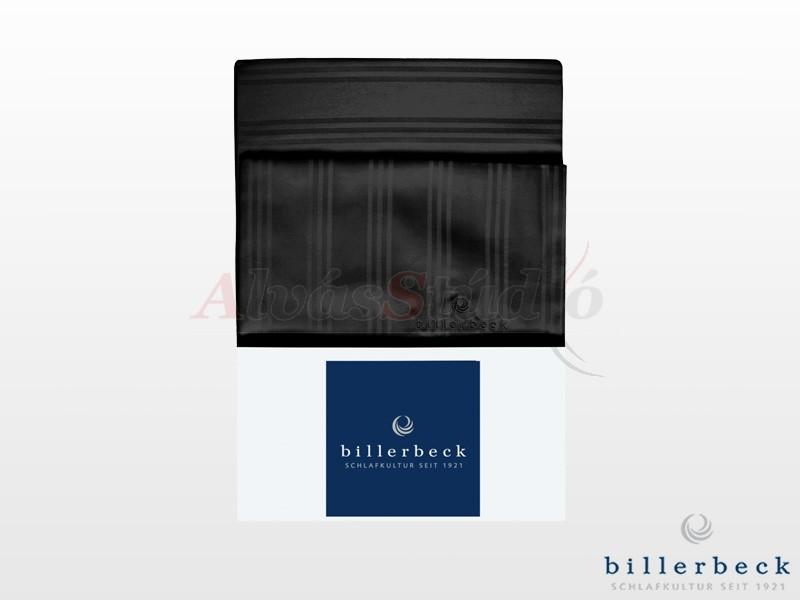 Billerbeck Réka 3 részes pamut-szatén ágynemű fekete 140x200 cm - 70x90 cm - 36x48 cm