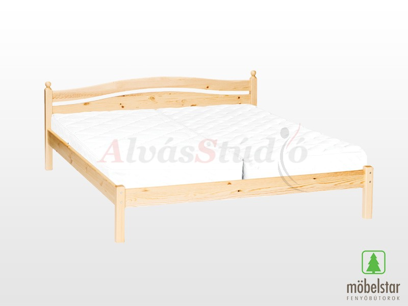 Möbelstar 306 - fenyő ágykeret (natúr) 160x200 cm