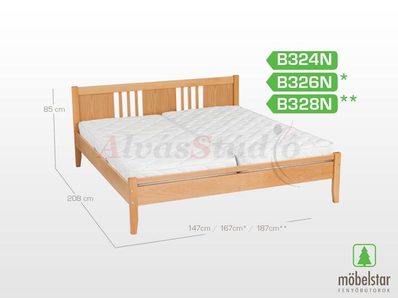 Möbelstar B324N - bükk ágykeret (natúr) 140x200 cm