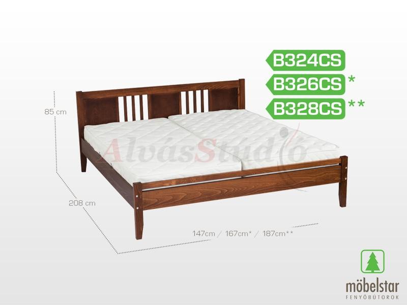Möbelstar B324CS - bükk ágykeret (pácolt) 140x200 cm