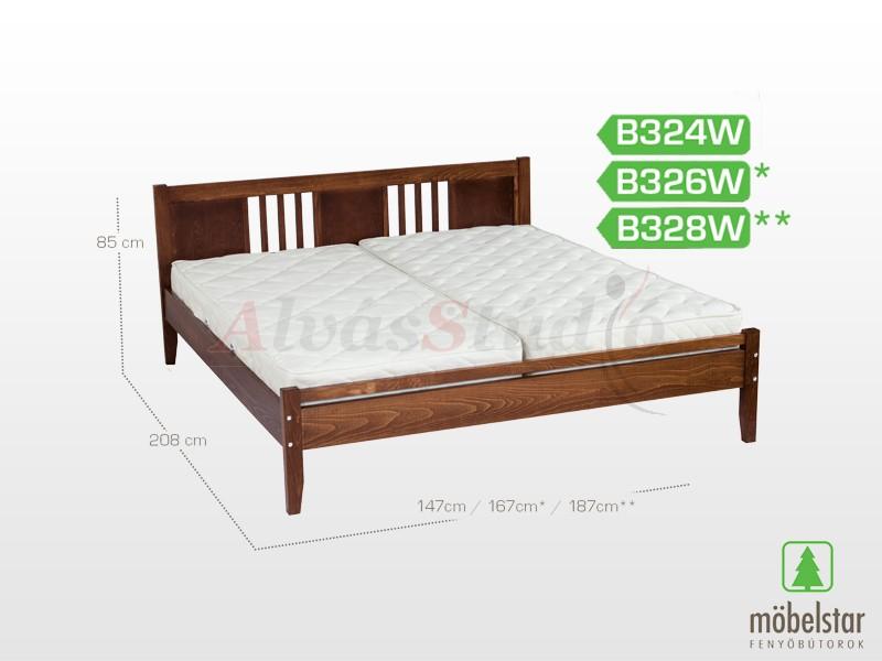 Möbelstar B324W - bükk ágykeret (pácolt) 140x200 cm
