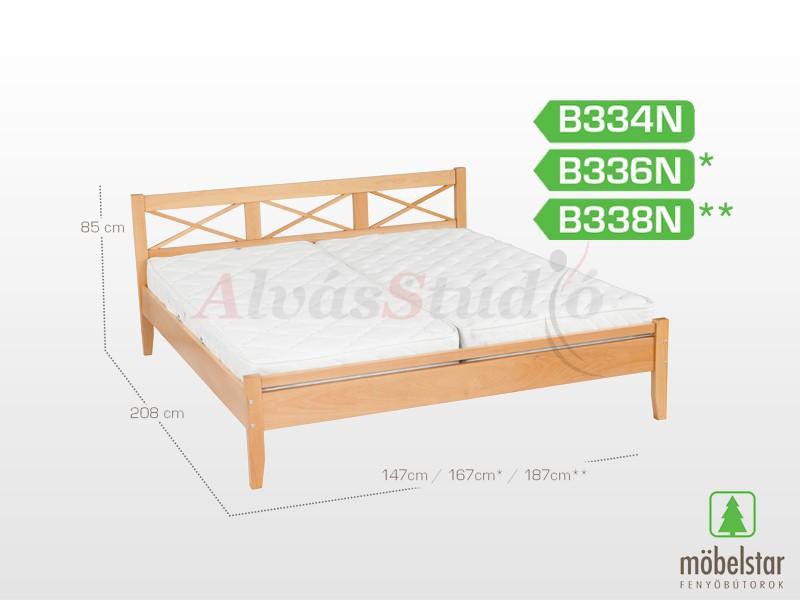 Möbelstar B338N - bükk ágykeret (natúr) 180x200 cm