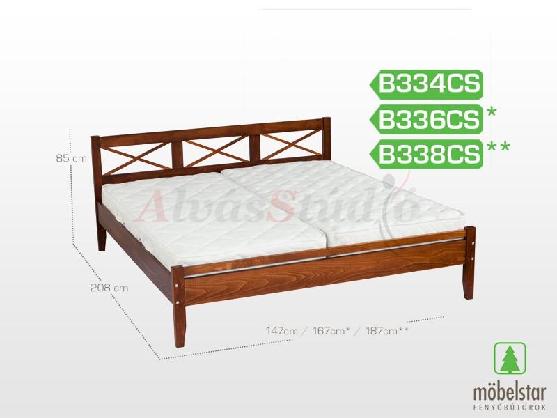 Möbelstar B334CS - bükk ágykeret (pácolt) 140x200 cm