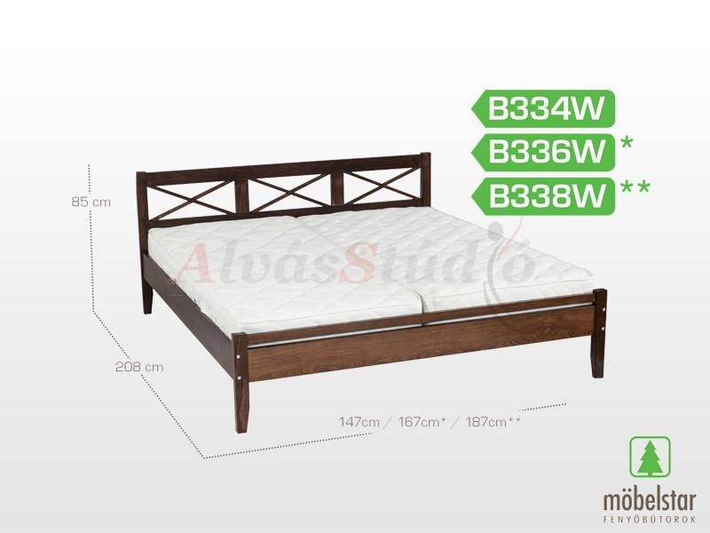 Möbelstar B334W - bükk ágykeret (pácolt) 140x200 cm