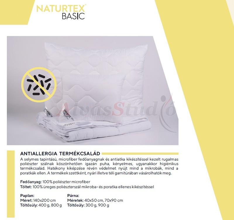 Naturtex Antiallergia téli garnitúra (140x200 cm paplan - 70x90 cm nagypárna - 40x50 kispárna)