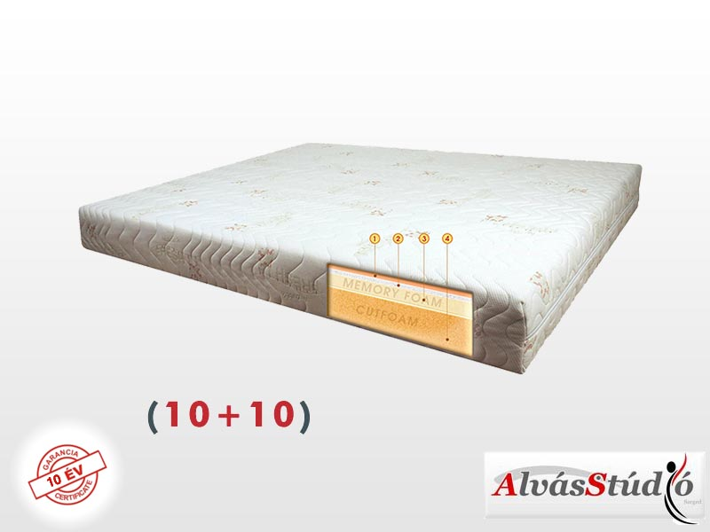 Alvásstúdió Memory X (10+10) memory matrac 100x220 cm Bamboo huzattal