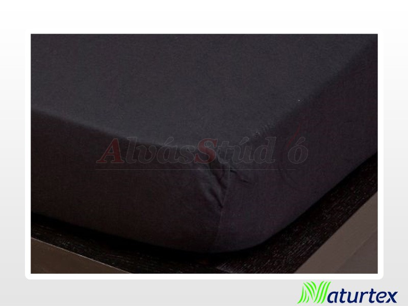Naturtex Jersey gumis lepedő Fekete 90-100x200 cm