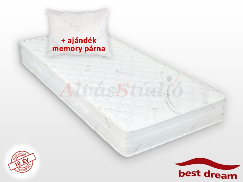 Best Dream Pocket Spring zsákrugós matrac 120x220 cm AJÁNDÉK MEMORY PÁRNÁVAL vákuumcsomagolt