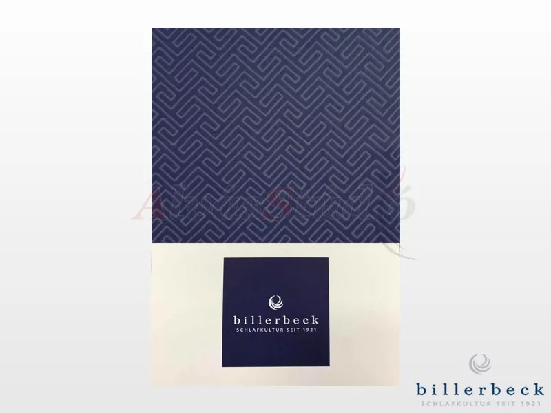 Billerbeck Bianka 3 részes pamut-szatén ágynemű kék 140x200 cm - 70x90 cm - 36x48 cm