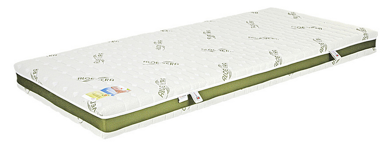 Lineanatura Infinity latex-kókusz-hideghab bio matrac 160x220 cm ALOE-3D-4Z huzattal