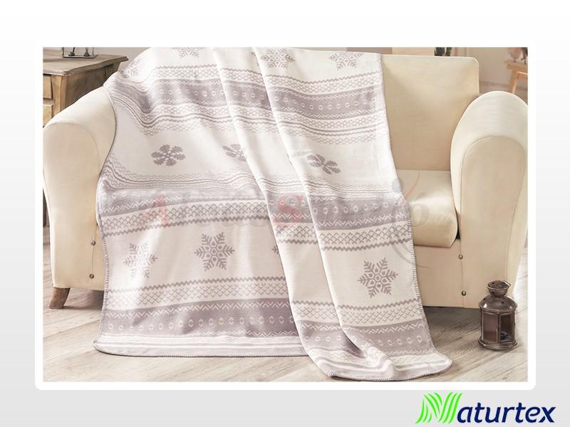 Naturtex Pamut-akril Snow mintás pléd 150x200 cm