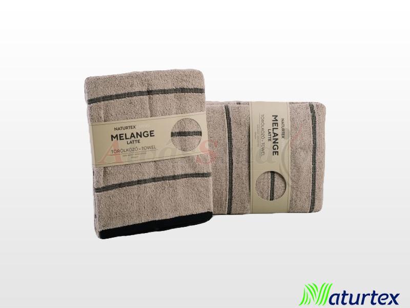 Naturtex Melange törölköző Latte 50x100 cm