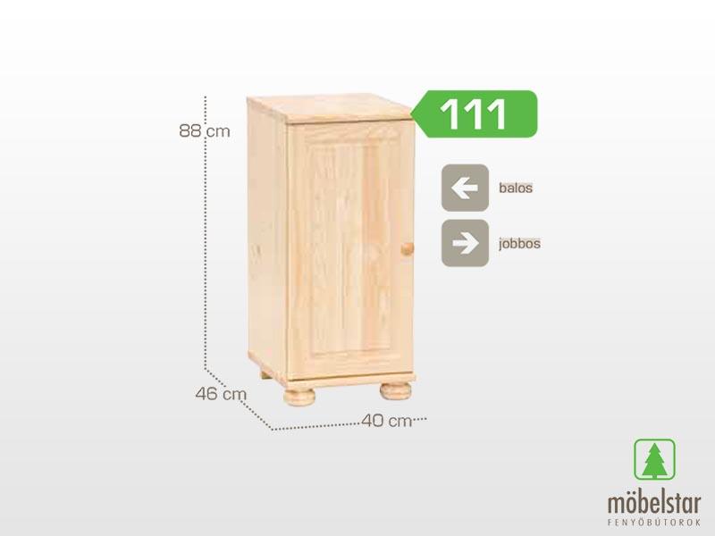 Möbelstar 111 - 1 ajtós komód 88x46 cm