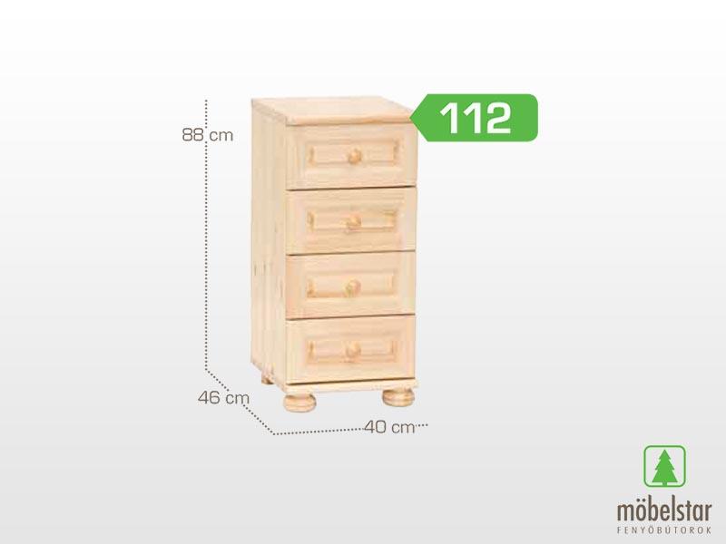 Möbelstar 112 - 4 fiókos komód 88x46 cm