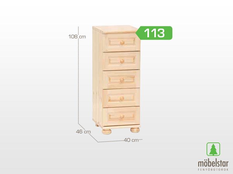 Möbelstar 113 - 5 fiókos komód 108x46 cm